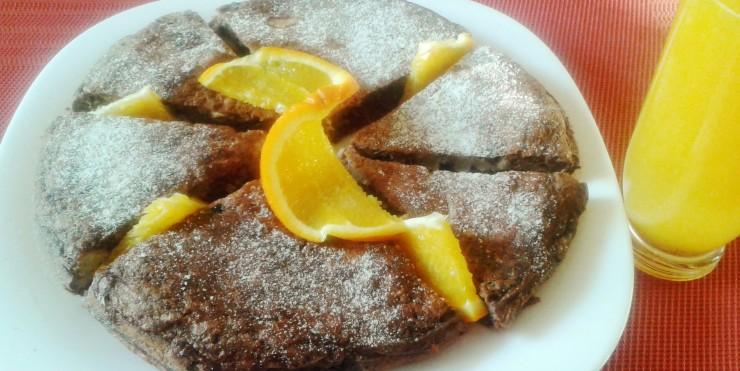 Pomarańczowy omlet na słodko