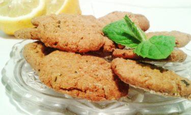 Żytnie ciasteczka cytrynowo-miętowe